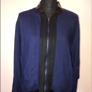 Hot in Hollywood Blue Full Zip Long Sleeve Jacket